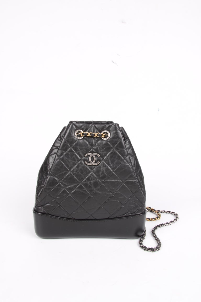 6812207e21a552 Chanel Quilted Gabrielle Backpack - black For Sale at 1stdibs