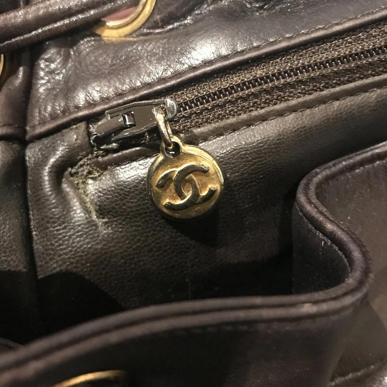 Chanel Quilted Lambskin Backpack For Sale 7