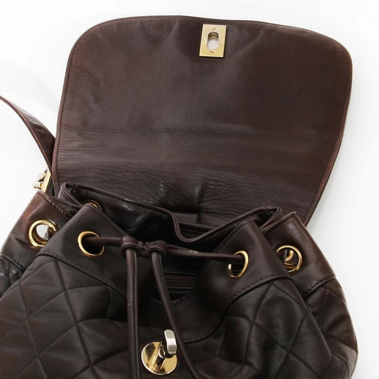 Chanel Quilted Lambskin Backpack For Sale 2