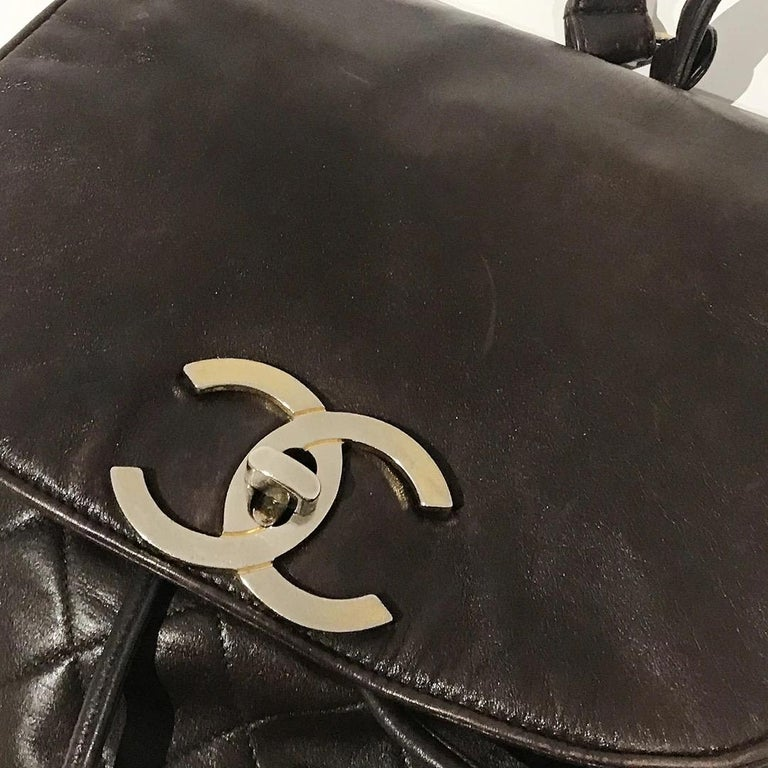 Chanel Quilted Lambskin Backpack For Sale 3