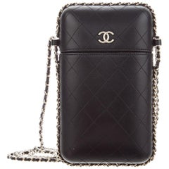 Chanel Quilted Lambskin Chain Around Phone Holder Bag