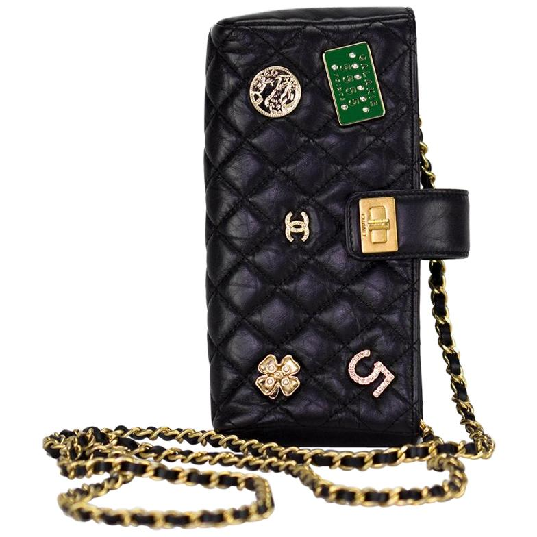 Chanel Quilted Lambskin Crossbody Clutch