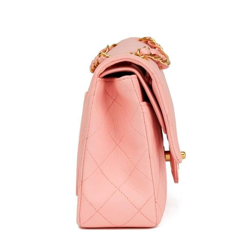 146dc674 Chanel Quilted Lambskin Small Classic Double Flap Bag For Sale at ...