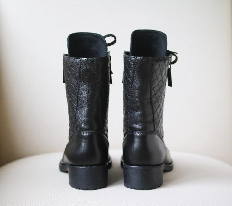 Women's Chanel Quilted Leather High Boots  For Sale