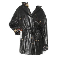 Chanel Quilted Leather Hooded Parka (1990's)