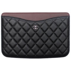 Chanel quilted leather pouch for IPad Mini