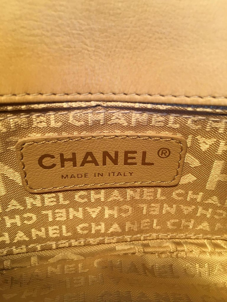 Chanel Quilted Tan Mini Camellia Classic Flap Shoulder Bag For Sale 3
