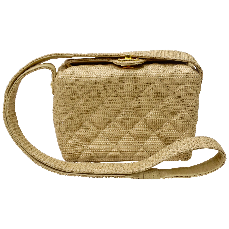 Chanel Quilted Vintage Raffia Bag