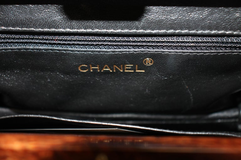 Chanel Quilted Wood Frame Bag For Sale 6