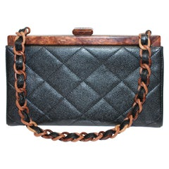 Chanel Quilted Wood Frame Bag
