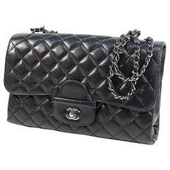 CHANEL quilting chain shoulder  Womens shoulder bag black x black hardware