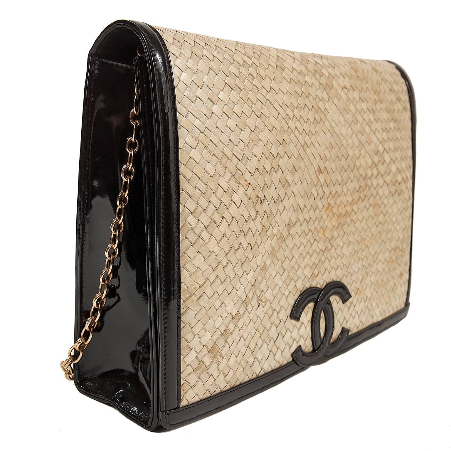 b4035f829b0fd4 Chanel Raffia Woven Flap Bag by Amen Wardy at 1stdibs