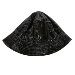 CHANEL Rain Hat in Black Patent Leather