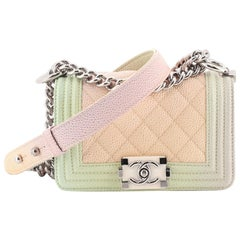 Chanel Rainbow Boy Flap Bag Quilted Painted Caviar Mini