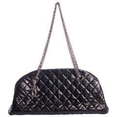 Chanel Rare Black Lizard Shoulder Bag