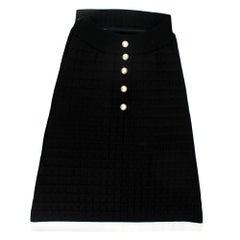 Chanel Rare Black Strapless A-Line Mini Dress EU36 XS