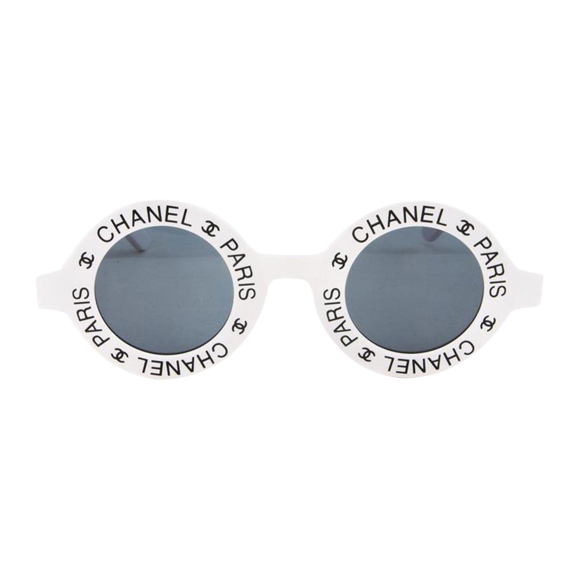 Chanel Rare Black Vintage 90's CC Paris Sunglasses