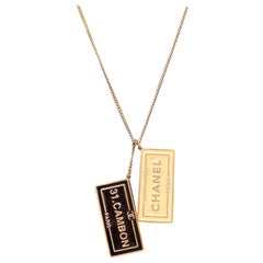 Chanel Rare ID Dog Tags Charm Necklace