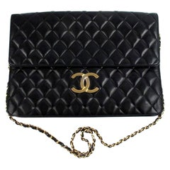 Chanel Rare Jumbo Maxi XL Vintage Classic Flap Giant Clutch Briefcase