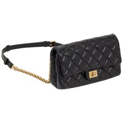 Chanel Rare Reissue Black Fanny Pack