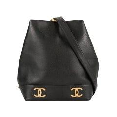 Chanel Rare Vintage 90's Collectors Drawstring Bucket Tote Bag