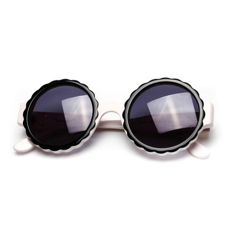 Women's or Men's Chanel Rare White Vintage 90's Sunglasses For Sale