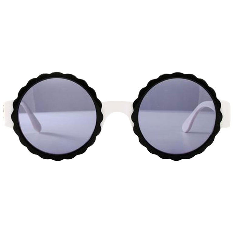 Chanel Rare White Vintage 90's Sunglasses For Sale
