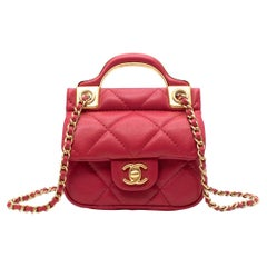 Chanel Raspberry Leather Micro Coin Purse - Colour Sold Out/Rare