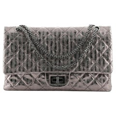 Chanel Rayures Reissue 2.55 Flap Bag Quilted Calfskin 227