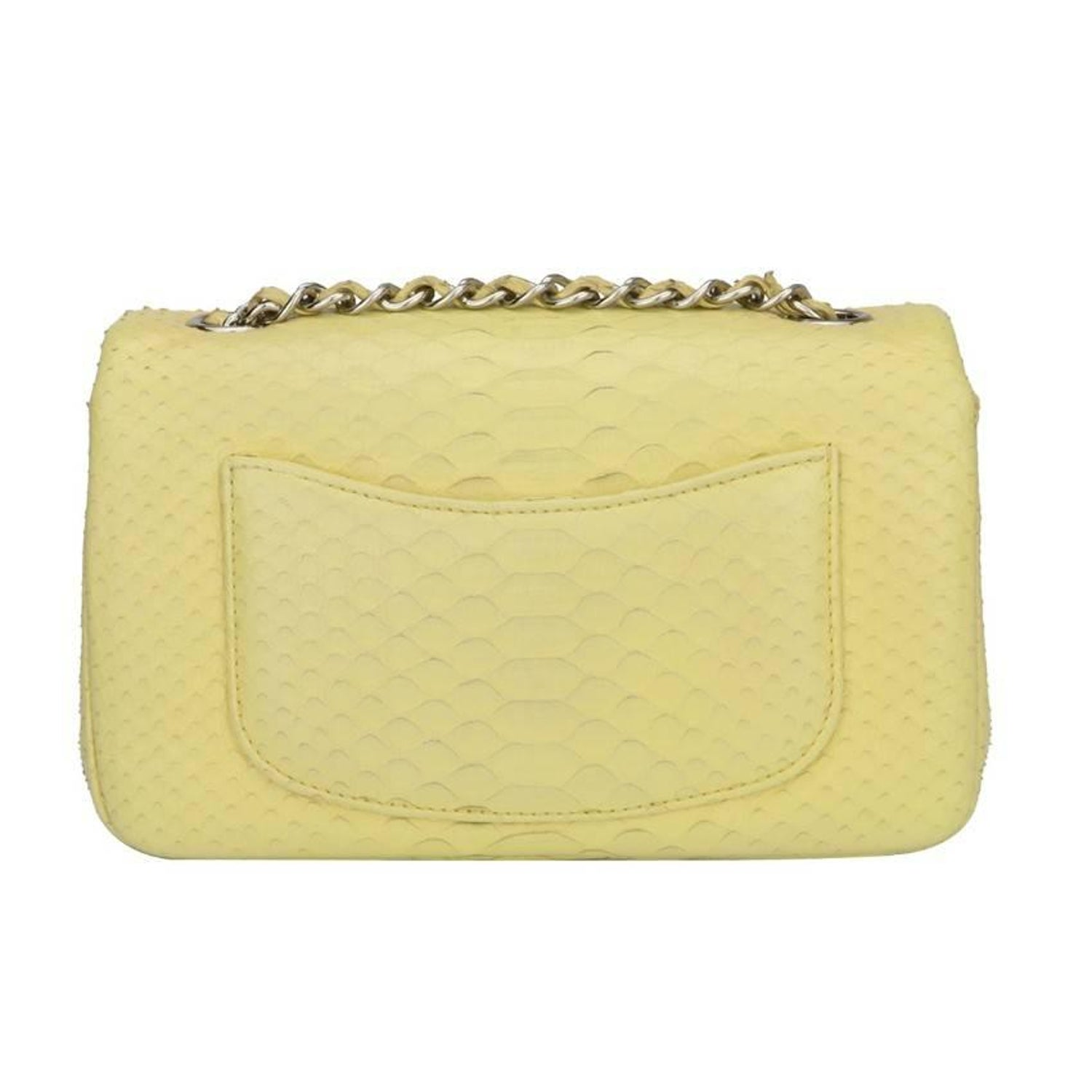 faf5219bfa39e2 CHANEL Rectangular Mini Yellow Python Bag For Sale at 1stdibs