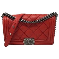 Chanel Red Boy Medium