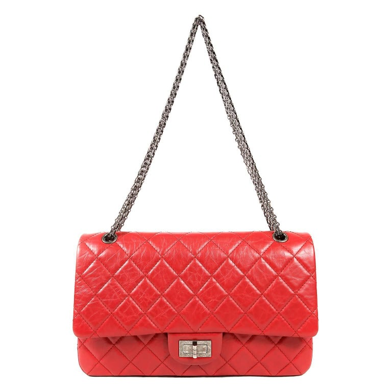 Chanel Red Calfskin 2.55 Reissue Flap Bag- 227 size 9