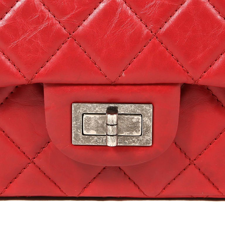 Chanel Red Calfskin 2.55 Reissue Flap Bag- 227 size 1