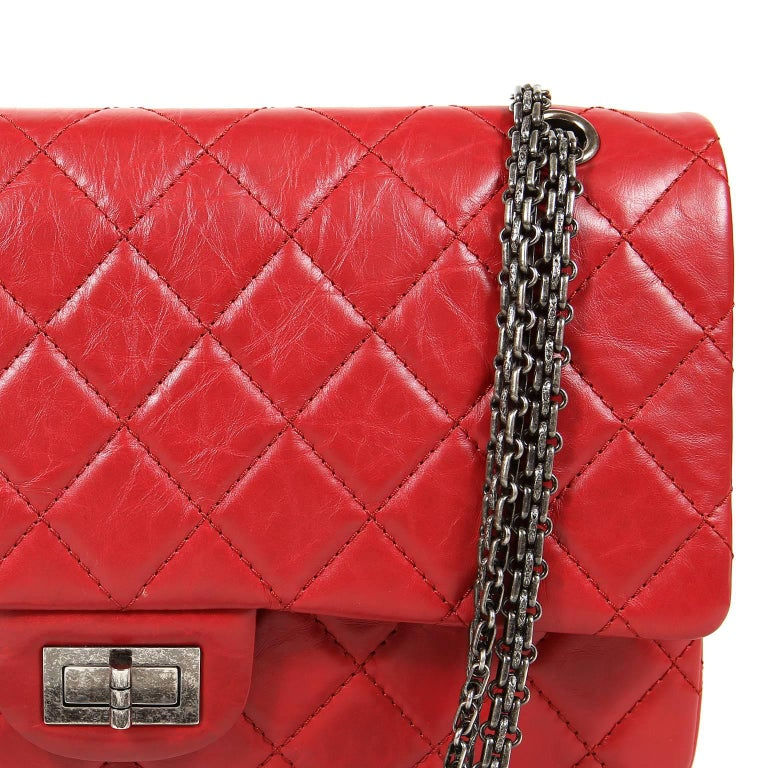 Chanel Red Calfskin 2.55 Reissue Flap Bag- 227 size 2