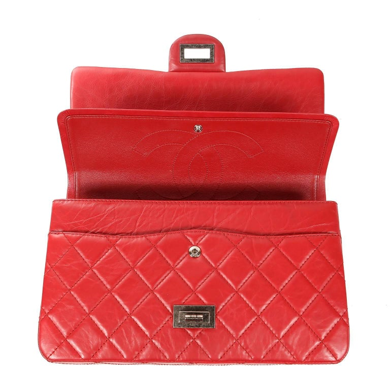 Chanel Red Calfskin 2.55 Reissue Flap Bag- 227 size 3