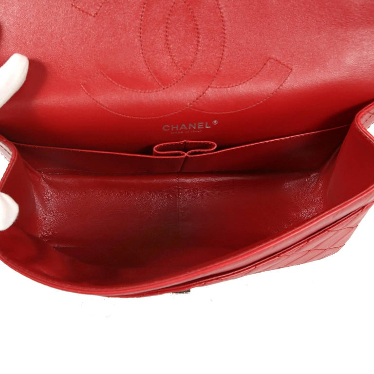 Chanel Red Calfskin 2.55 Reissue Flap Bag- 227 size 4