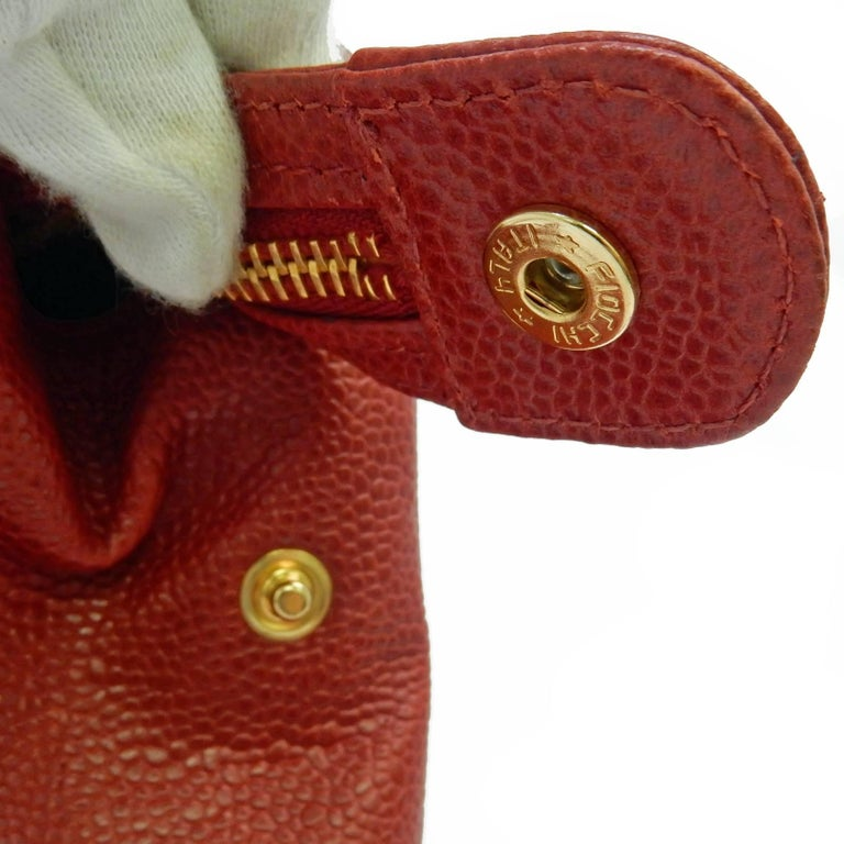 Chanel Red Caviar Leather