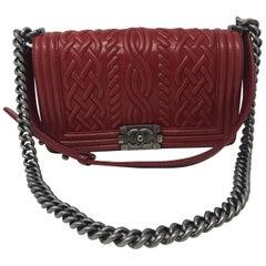 Chanel Red Celtic Boy Bag