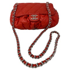 Chanel Red Chain Around Crossbody Bag