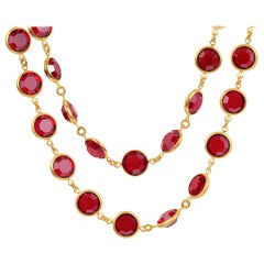 Chanel Red Gripoix Vintage Necklace