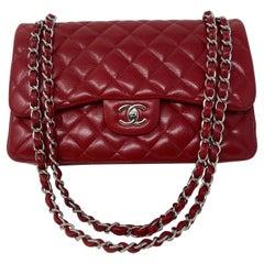 Chanel Red Jumbo Double Flap Bag