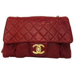 Chanel Red Leather Bag