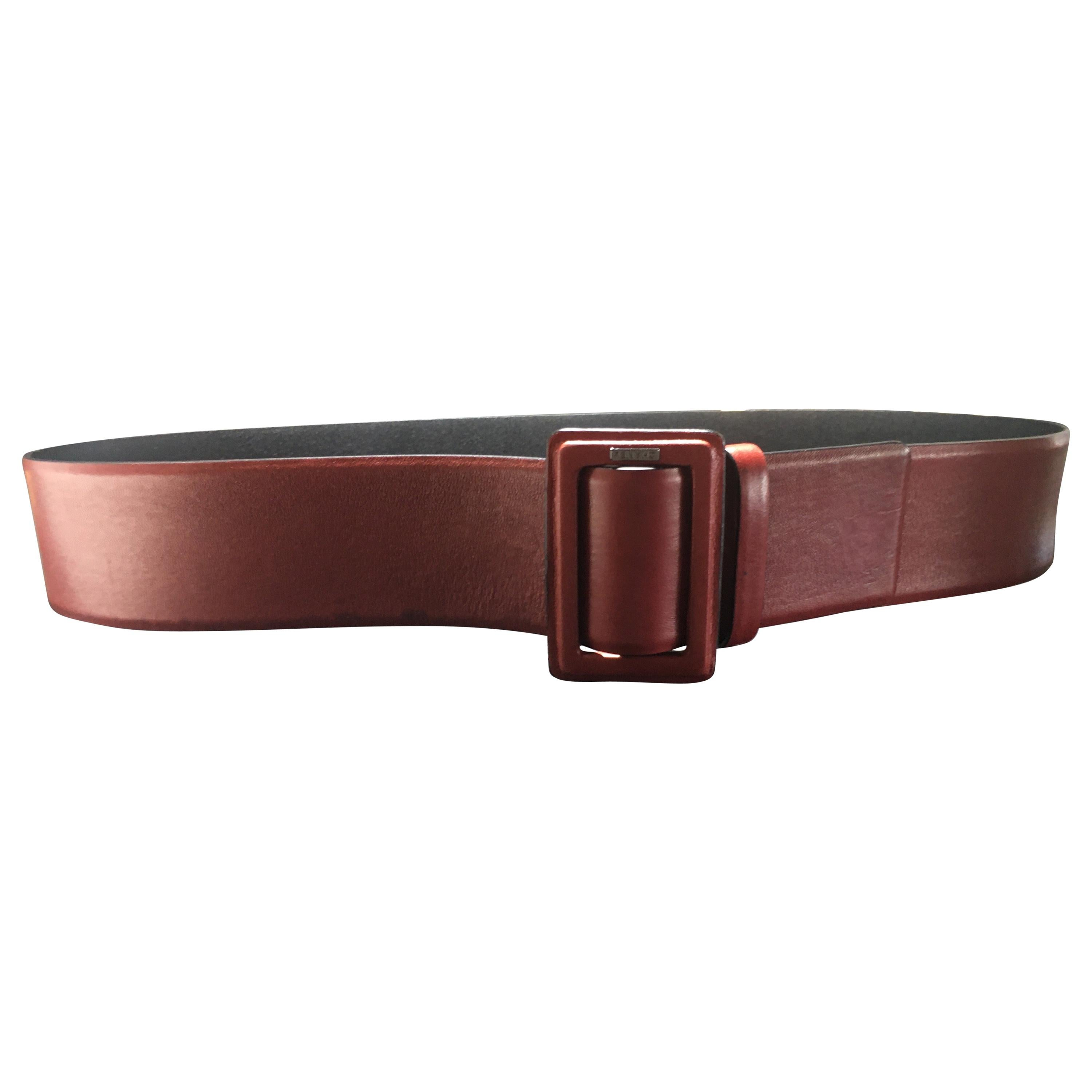 Chanel Red Leather Belt, 1990-2000s Pristine Condition, Never Worn.