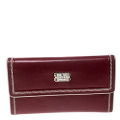 Chanel Red Leather Reissue Continental Wallet