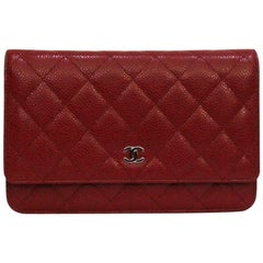 Chanel Red Leather Woc Bag