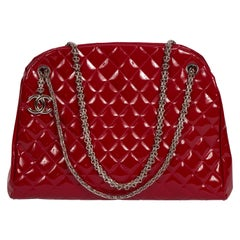 Chanel Red Patent Large Mademoiselle Bag