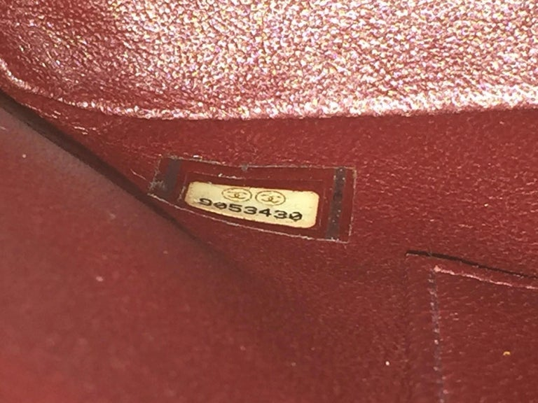 Chanel Red Quilted Caviar Tote Bag 3