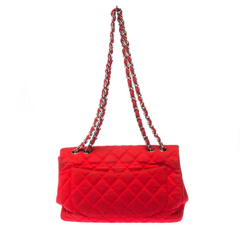 Chanel's classic flap bags are the most iconic handbags in the fashion world. Totally worth the splurge, these bags that have become a symbol of class and luxury, carries unparalleled elegance and charm. This classic flap bag in a functional jumbo