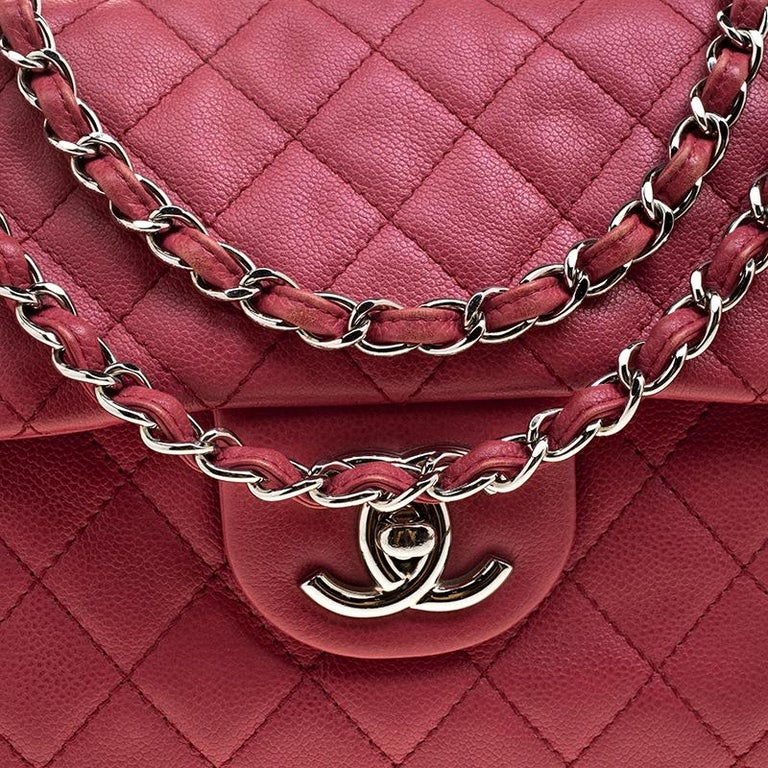 d10301349331 Women's Chanel Red Quilted Leather Maxi Jumbo XL Classic Flap Bag For Sale