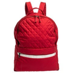 Chanel Red Quilted Nylon Coco Cocoon Backpack